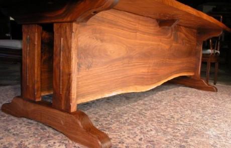 The 10' Lind Custom Walnut Slab Dining Table 2