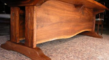 The 10' Lind Custom Walnut Slab Dining Table 2