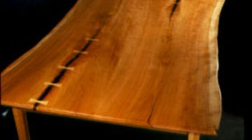 The Greybill Rustic Cherry Custom Kitchen Table 1