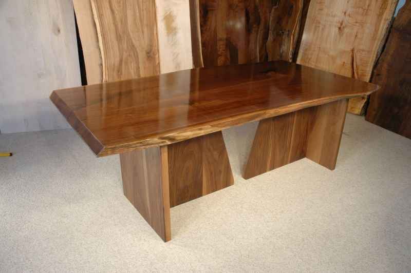 The King Custom Walnut Slab Dining Table Version 1