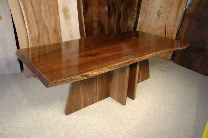 Superior The King Custom Walnut Slab Dining Table Version 2