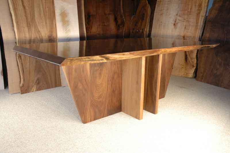 The King Custom Walnut Slab Dining Table Version 3
