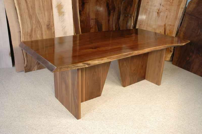 The King Custom Walnut Slab Dining Table Version 4
