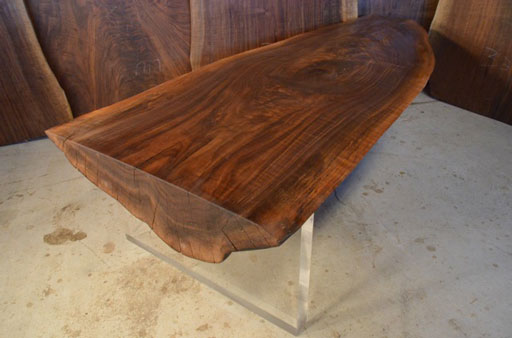 Custom Reclaimed Walnut Coffee Table Base