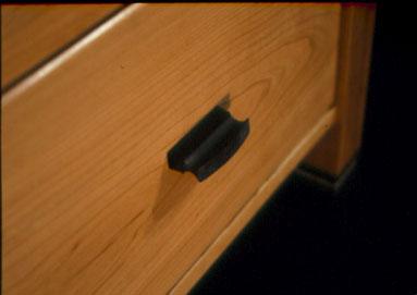 The Zuckerman-Rustic Cherry Custom Desk with Ebony Butterflies 4