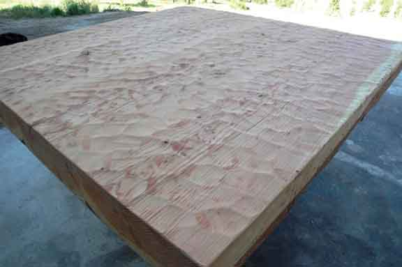 The extra thick Douglas Fir Slab Custom Dining Table