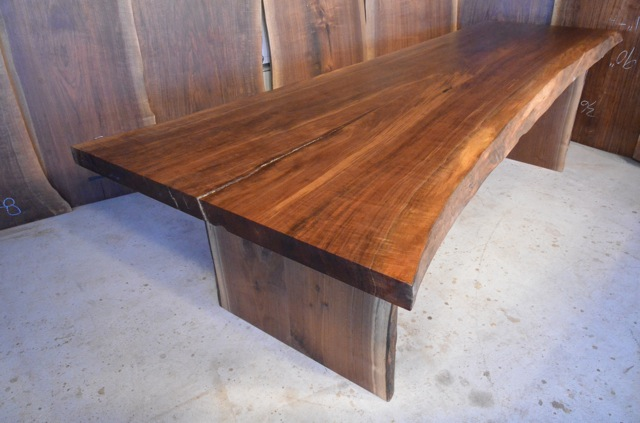 Unique Beautiful Walnut Slab Dining Table