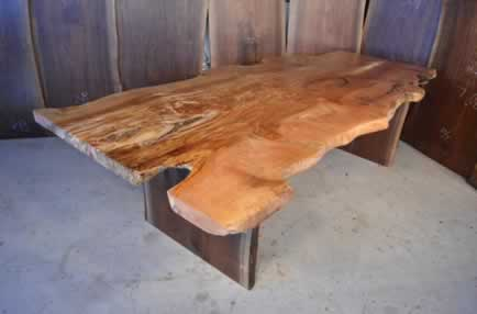 Unique Handmade Maple Slab Dining Table