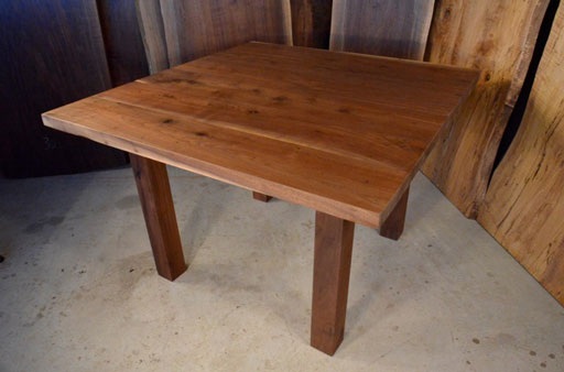 Handmade crotch slab dining tables by dumond 39 s custom for 4x4 dining table