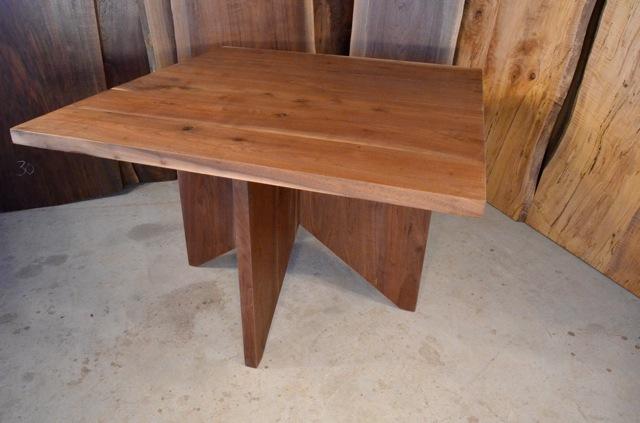 Walnut Crotch Table with Burl Maple Base