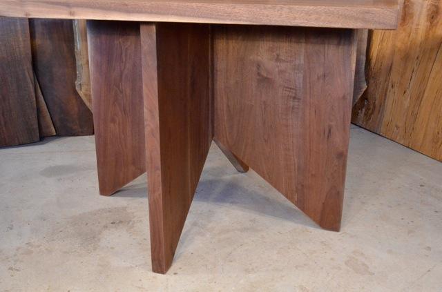 Walnut Crotch Table with Burl Maple Base3