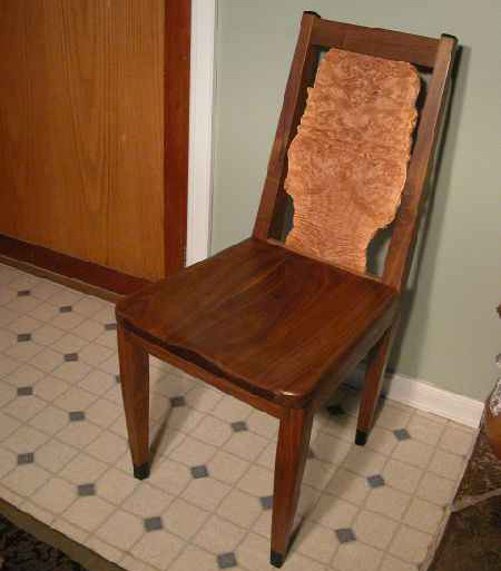 Custom Walnut Dining Chair