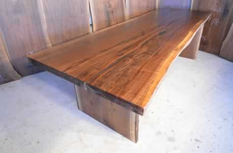 Walnut Slab Dining Table Made By Hand
