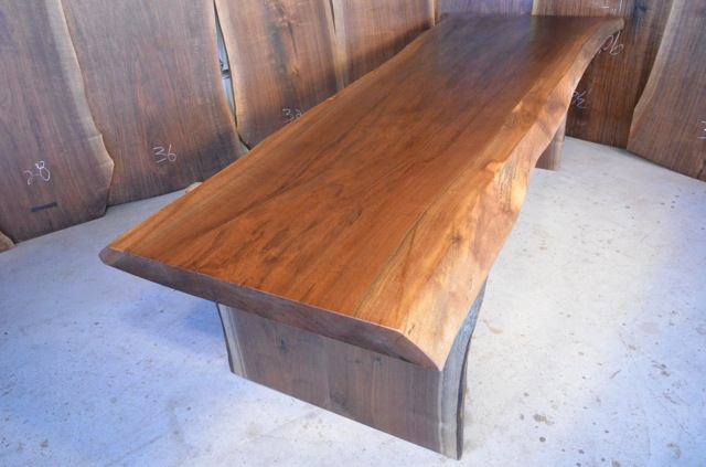 Walnut Slab Dining Table Made In Montana