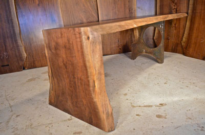 Walnut Slab Dining Table One Of A Kind