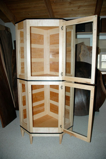 Unique Custom Wooden Display Cabinet