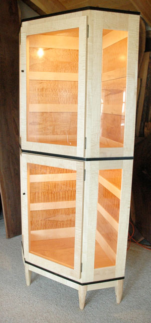 Custom Made Wooden Display Cabinet