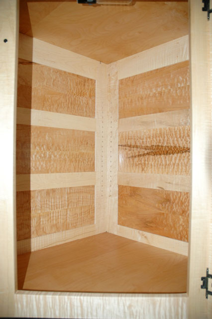 Custom Wooden Display Cabinet