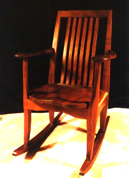 custom Walnut Rocking Chair
