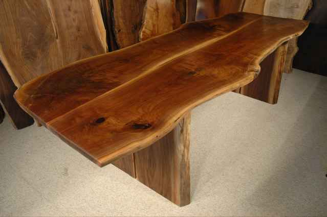 Custom Restored Wood Slab Dining Table