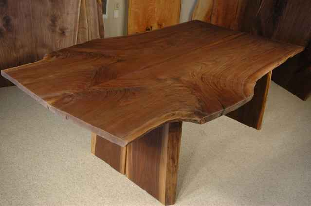 Custom Dining Table With Natural Edges