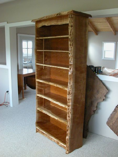 Rustic Cherry Bookcase With Adjustable Shelves