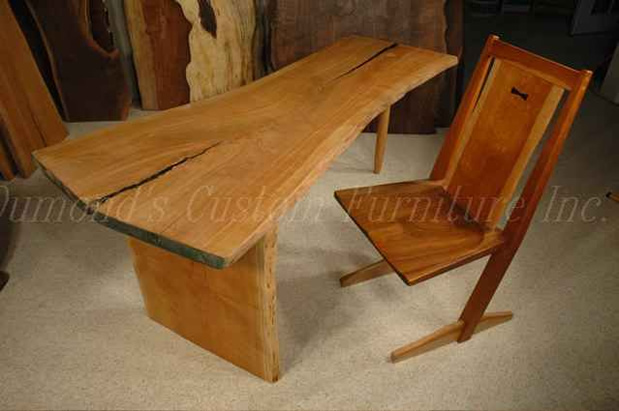 The Cherry Crotch Slab Nakashima Style Desk