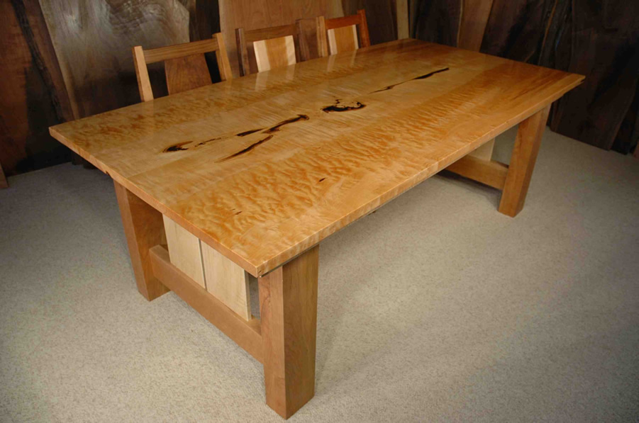 7 Custom Quilted Maple Dining Table Dumonds