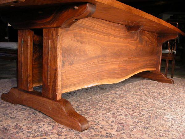 Walnut Slab Custom Conference Table Base