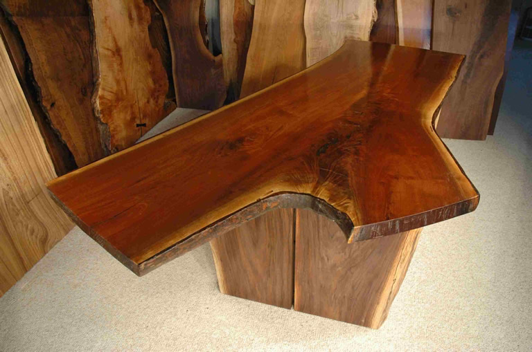 Andy Rooney Inspired Custom Walnut Nakashima Style Desk