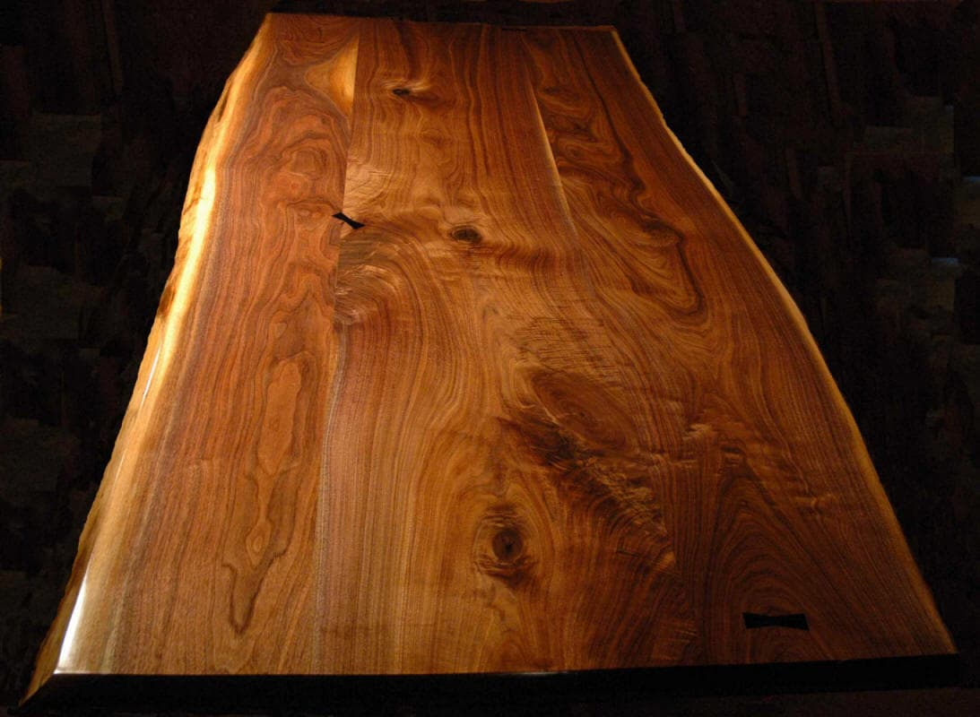 BLACK WALNUT With EBONY American Black Walnut Slab Table Top Is