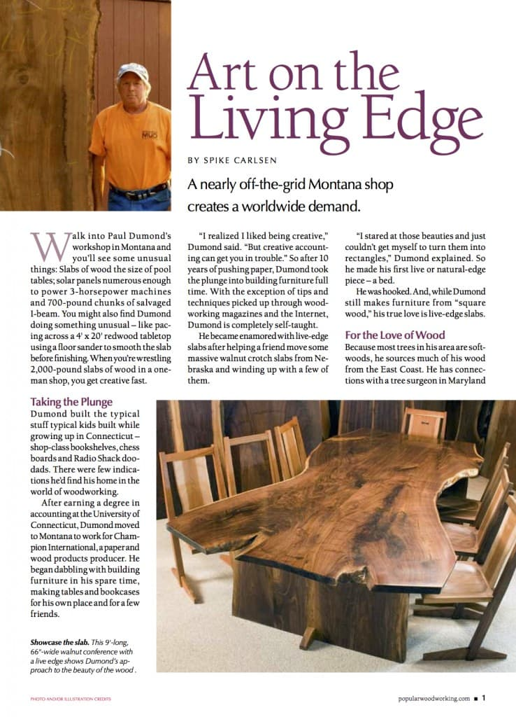 Dumond's Art On Living Edge
