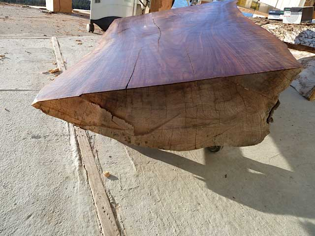 "5' curly walnut top about 6-8"" thick"
