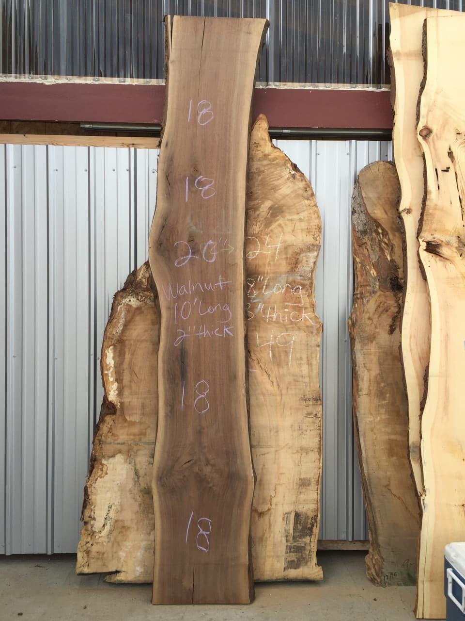 walnut live edge slab for tables