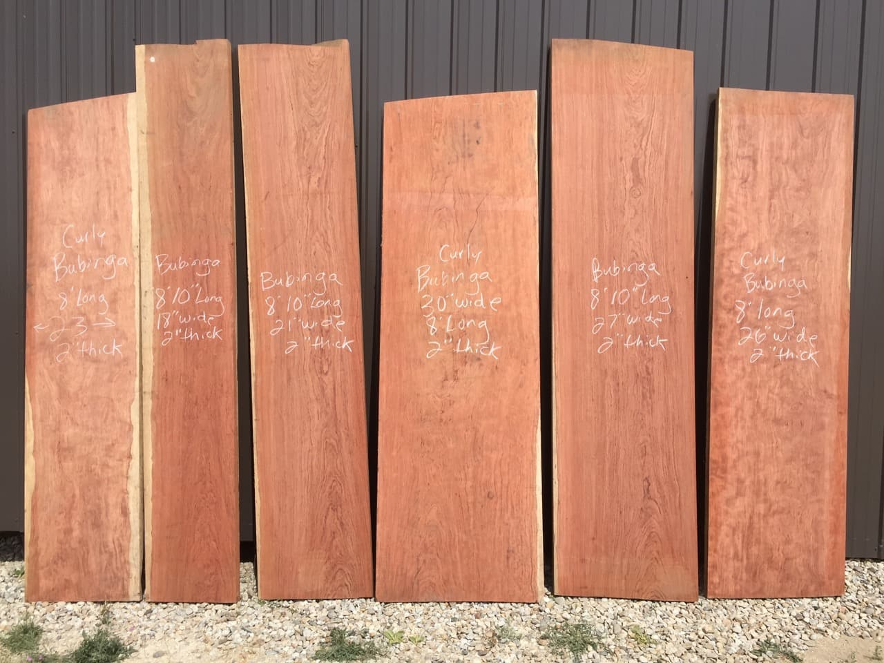 Bubinga live edge slabs for dining tables, conference tables