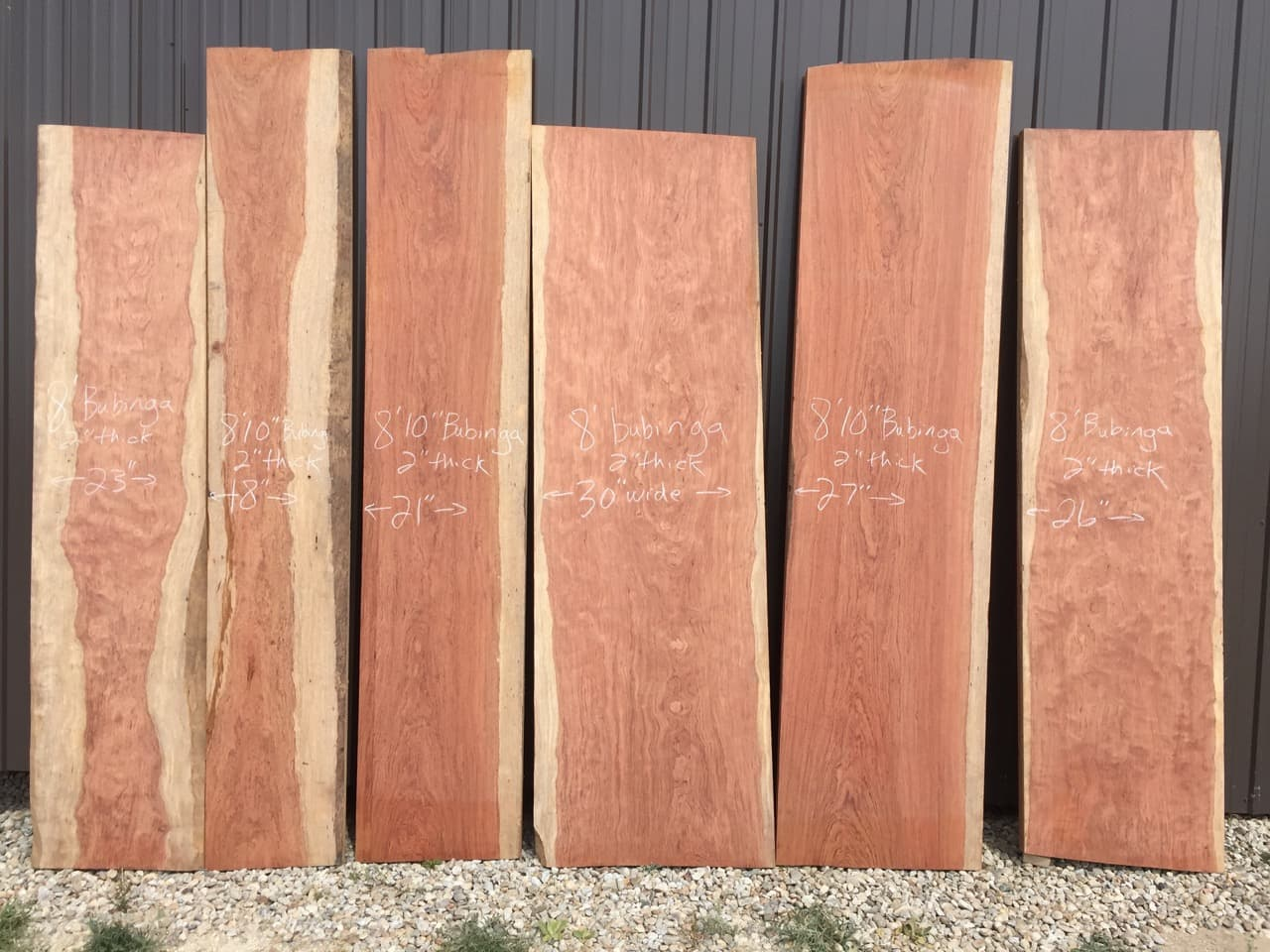 Large Bubinga slabs for dining tables conference tables