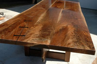 live edge wood furniture trend on the rise