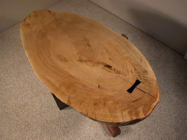 Rustic-Maple-Slab-coffee-table