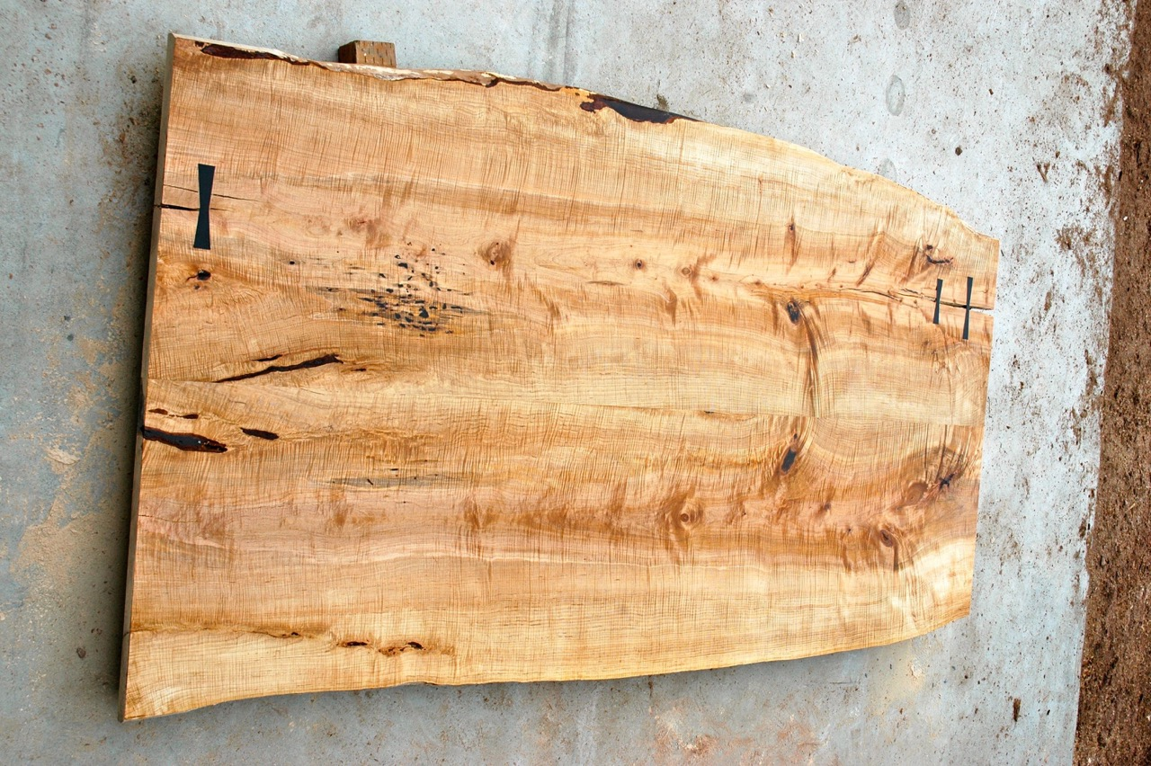 wide curly maple live edge