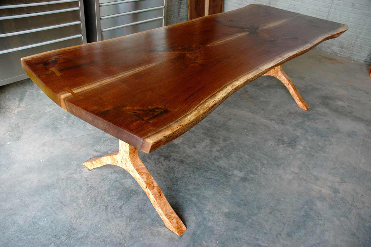 maple burl custom coffee table