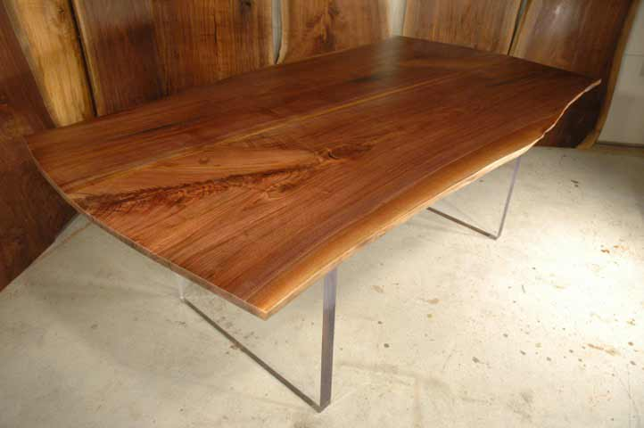 walnut slab conference table