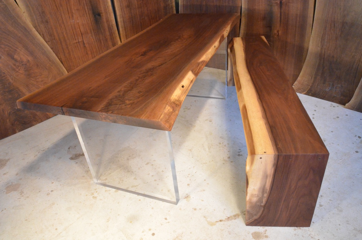 slab table with bench