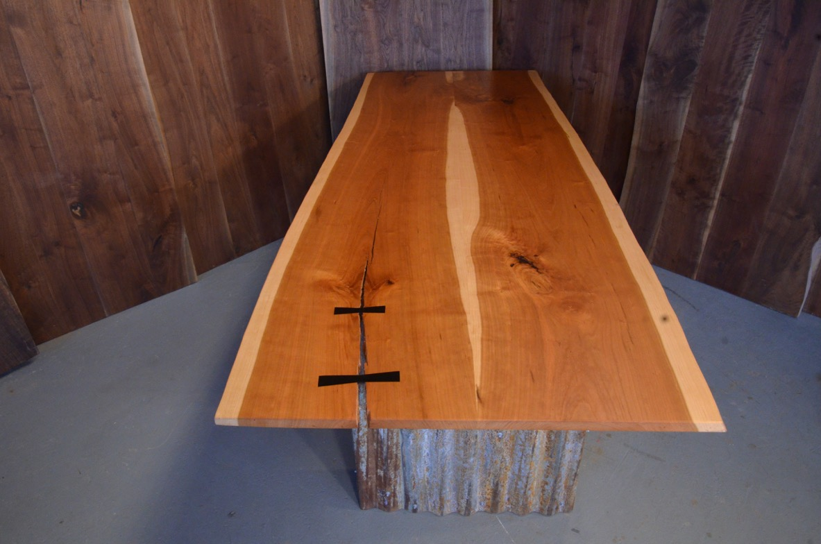 cherry natural edge table