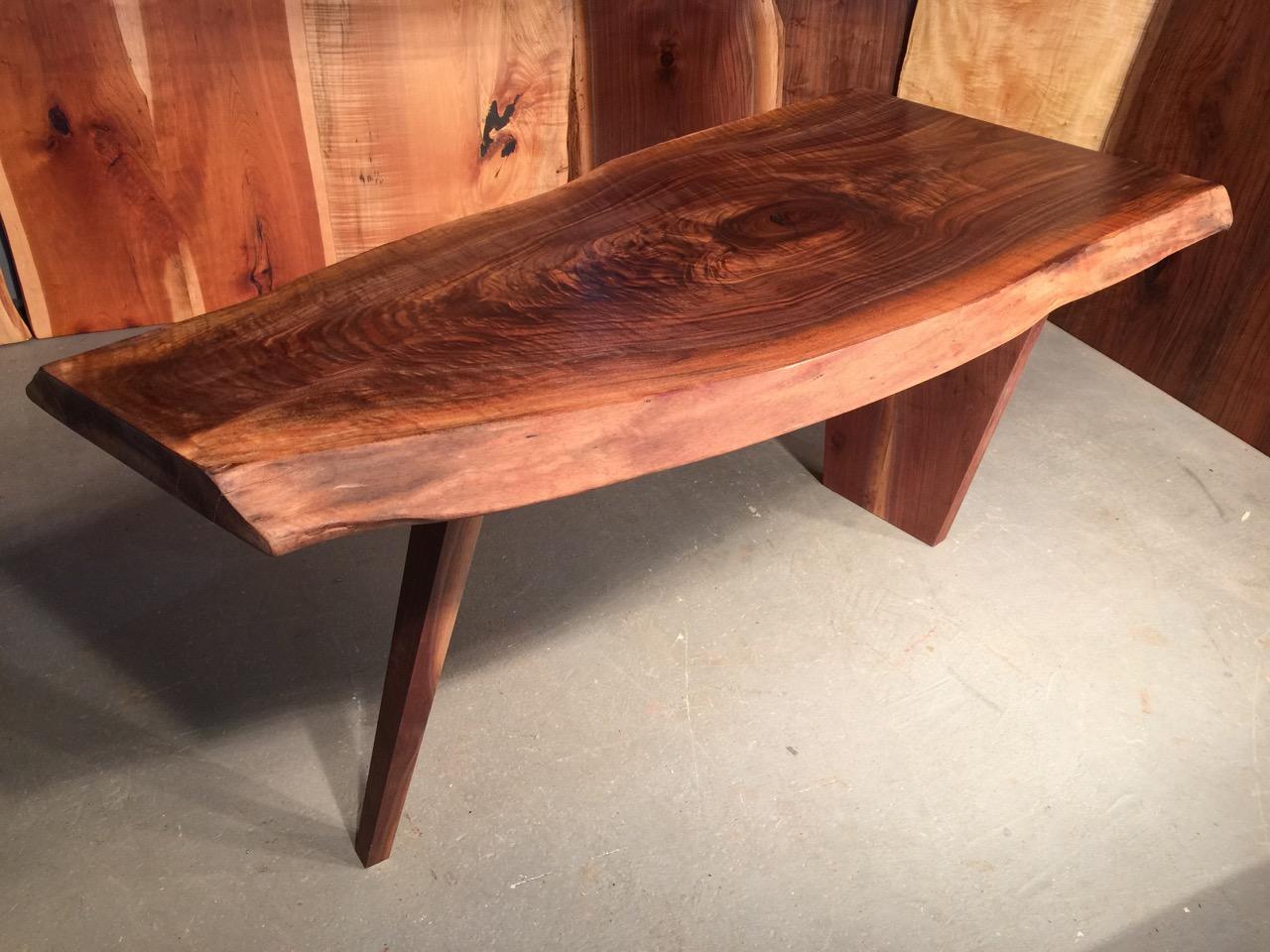 curly walnut custom table