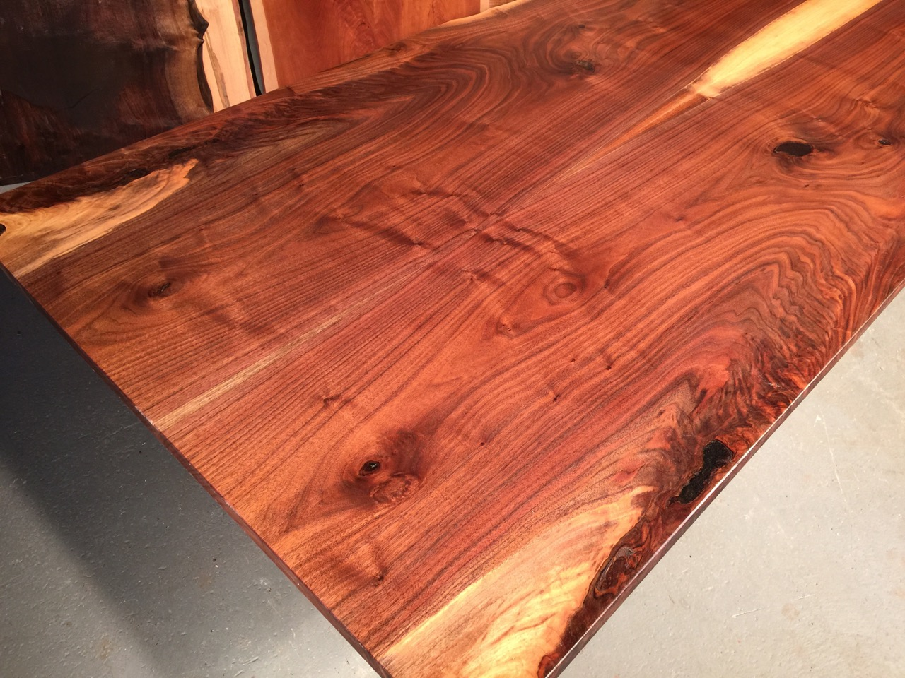 walnut crotch table top