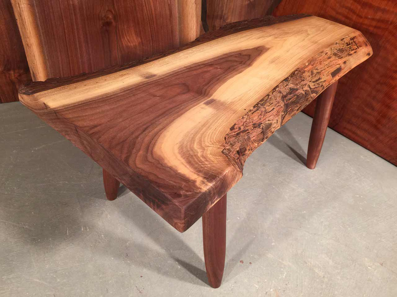 walnut live edge walnut coffee table