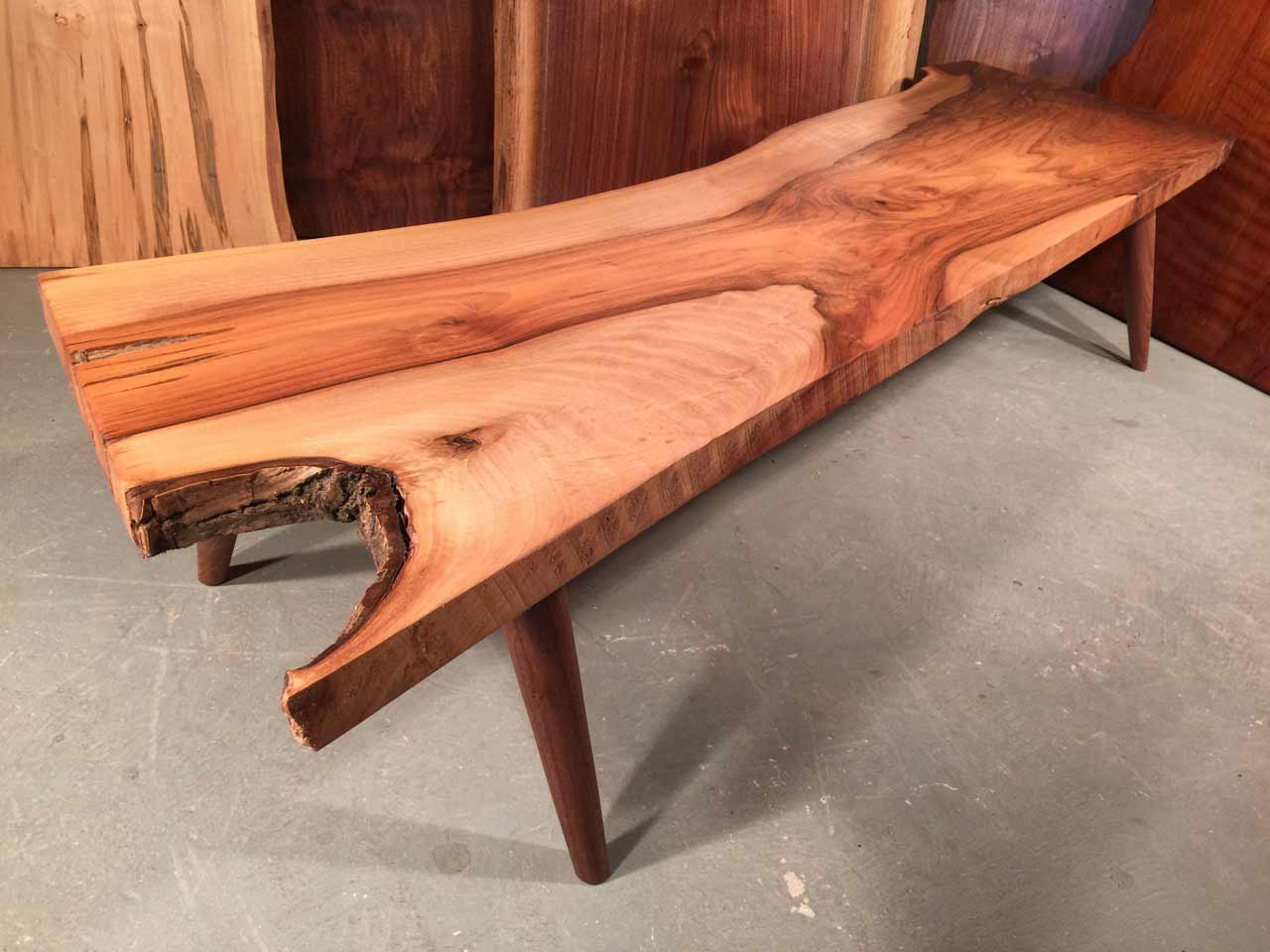 walnut live edge bastion walnut coffee table