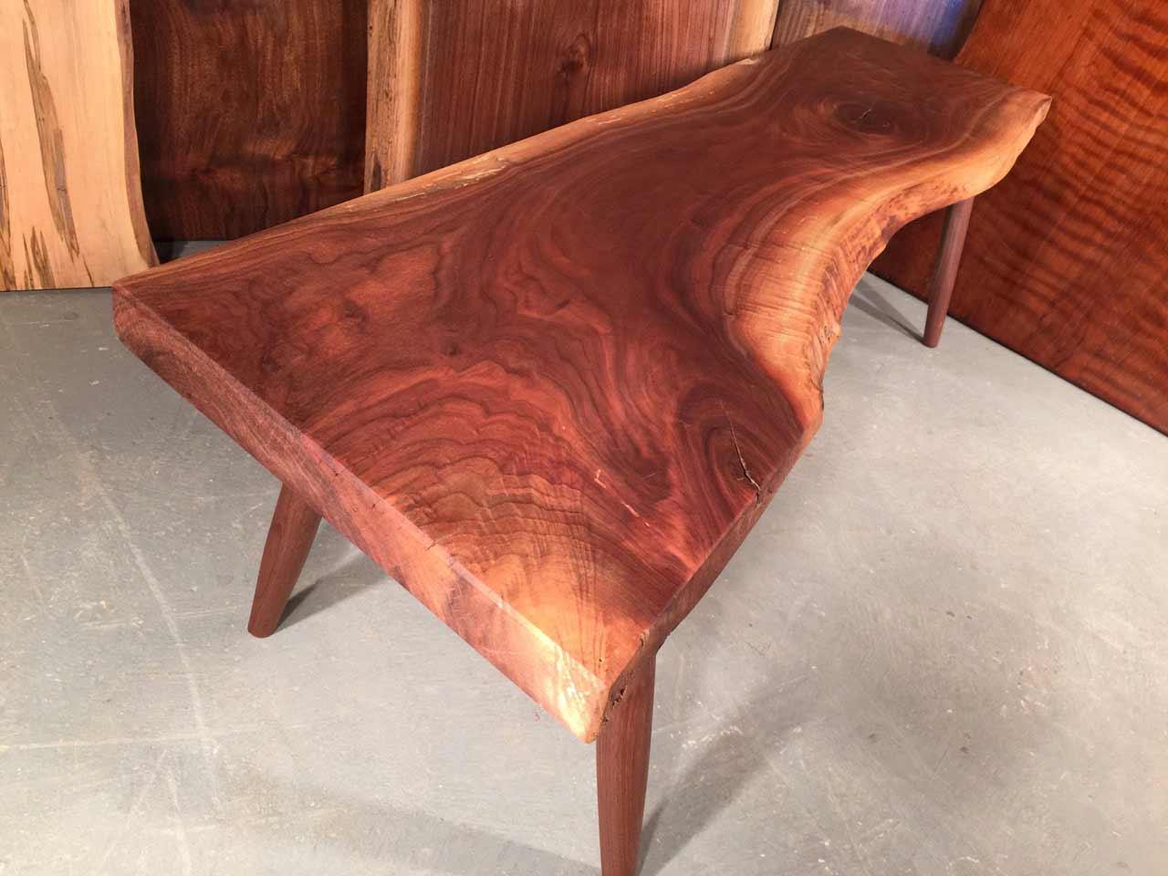 4' walnut live edge coffee table