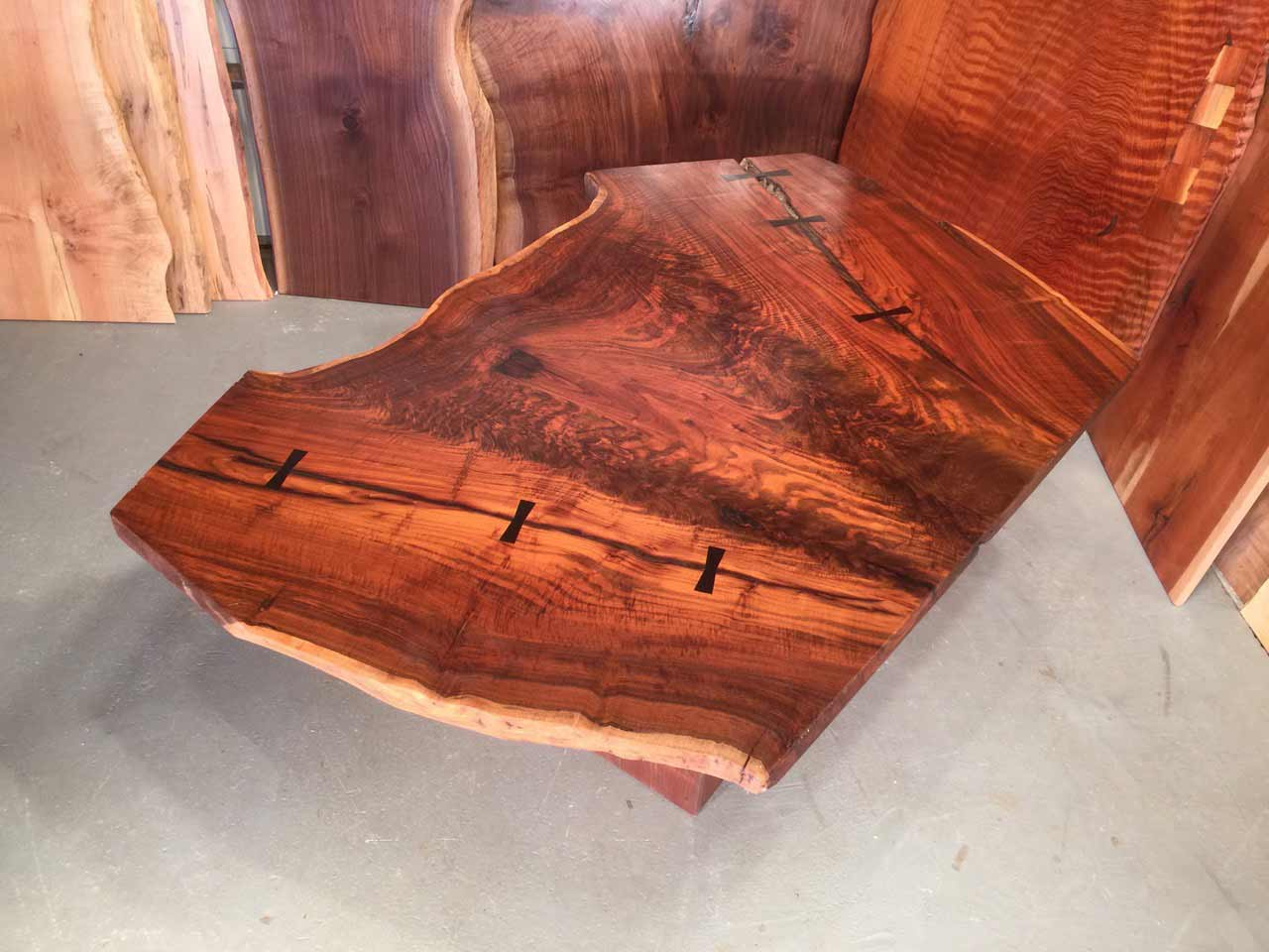 claro walnut conference table