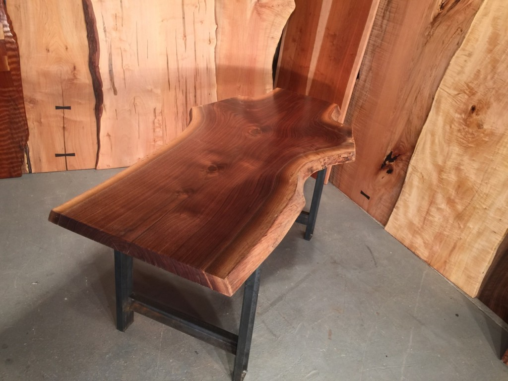 Live Edge 6′ Recycled Walnut Crotch